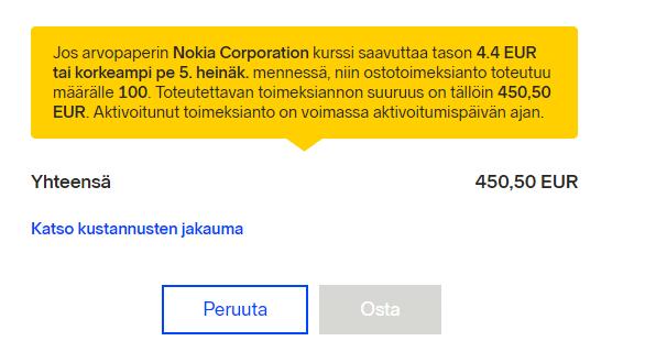 Stop Loss Nokia