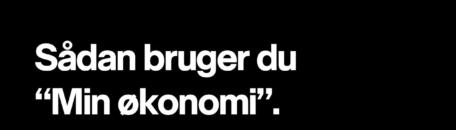 Sådan bruger du min økonomi