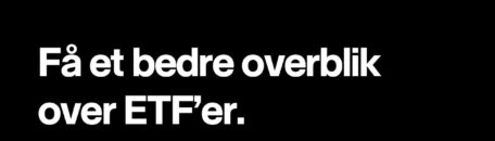 Få bedre overblik over ETF'er